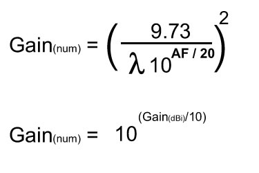 Antenna Factor and Gain Calculations