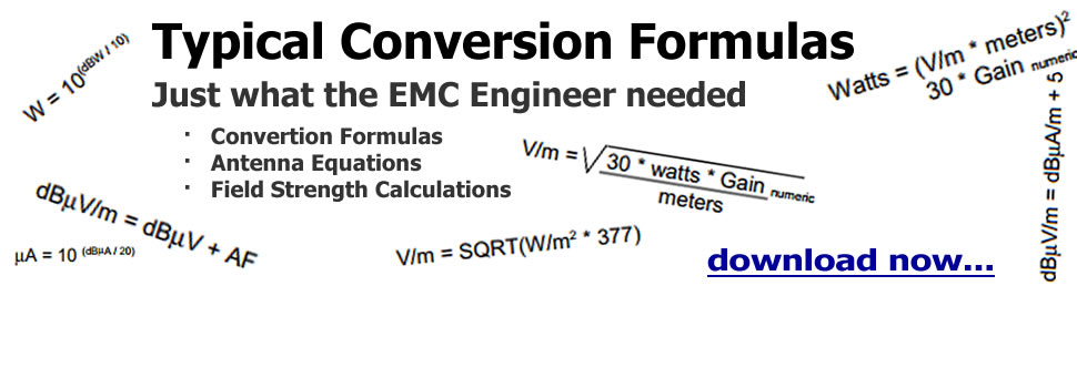 EMC Formulas & Equations