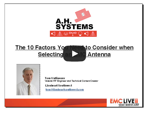 Selecting an EMC Antenna